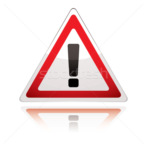 Stock photo: warning sign icon uk exclamation