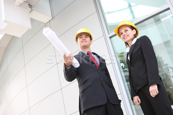 Stock photo: Business Team at Office Construction Site