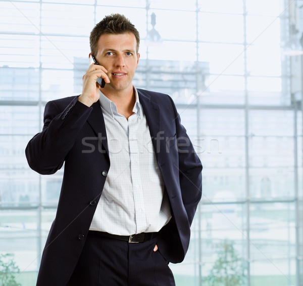 Stock photo: Businessman talking on phone