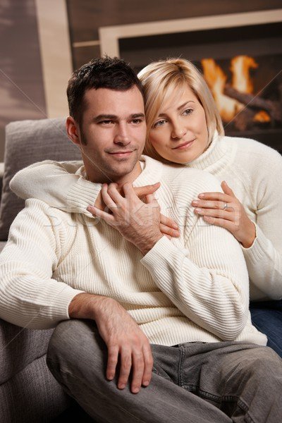 Stock photo: Romantic couple at home