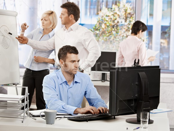 Stock photo: Office life - business people working