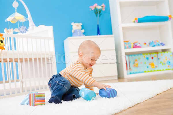 Stock photo: Children playing in room