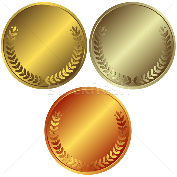 Gold Silver And Bronze Medals Vector Illustration 169 Olga