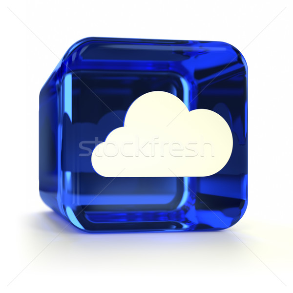 Stock photo: Blue Cloud Computing Icon