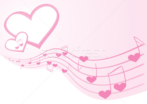 Stock photo stock vector illustration pink background with music notes