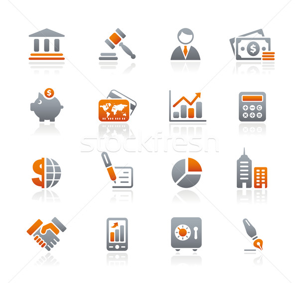 Stock photo: Business & Finance Icons // Graphite Series