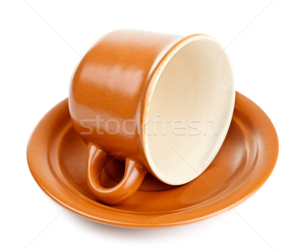 Stock photo: coffee cup with saucer