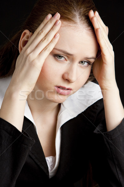 Stock photo: portrait of tired businesswoman