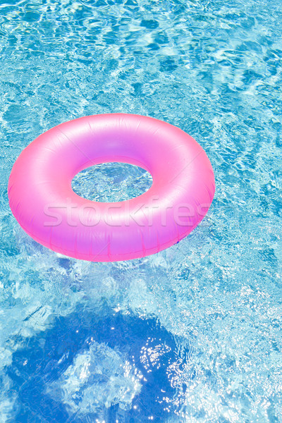 Rubber Swimming Pools : Pink rubber ring in swimming pool stock photo richard