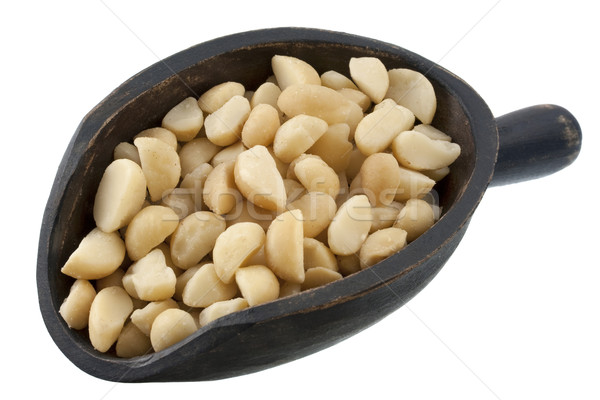 Stock photo: scoop of macadamia nuts
