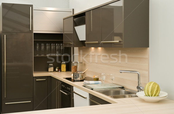 Modern fitted kitchen stock photo © Harald Richter (pixpack