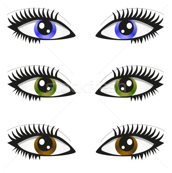 Colouring Pages Eyes Cartoon