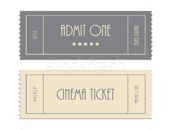 special vector ticket template admit one cinema ticket vector – Ticket Admit One Template