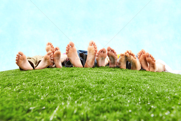 Stock photo: Resting on open air