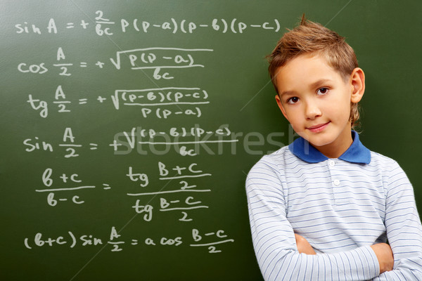 Stock photo: Young mathematic