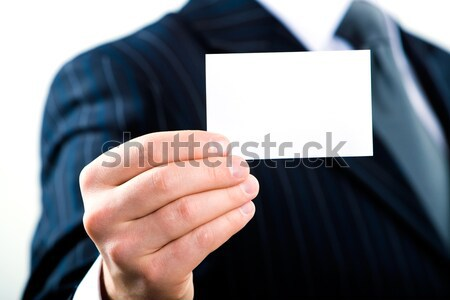 Stock photo: Empty business card