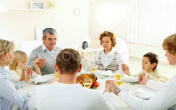 Stock photo: Family pray