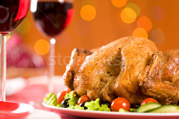 Stock photo: Roasted poultry