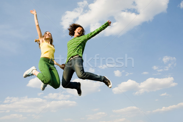 Stock photo: On cloud nine