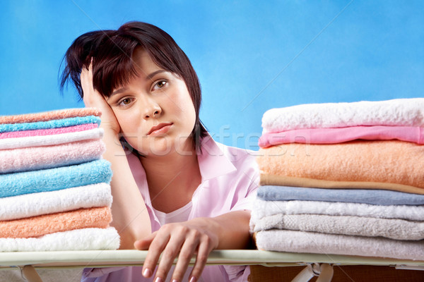 Stock photo: Unhappy housewife