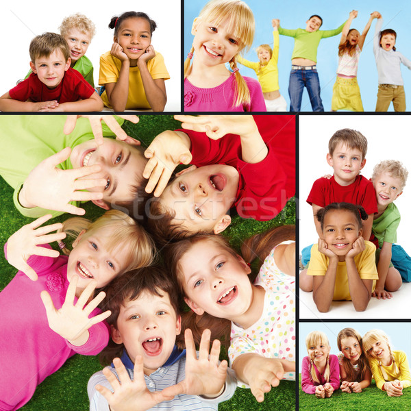 Stock photo: Joyful children