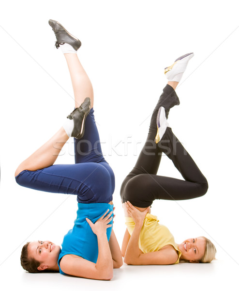 Stock photo: Energetic ladies