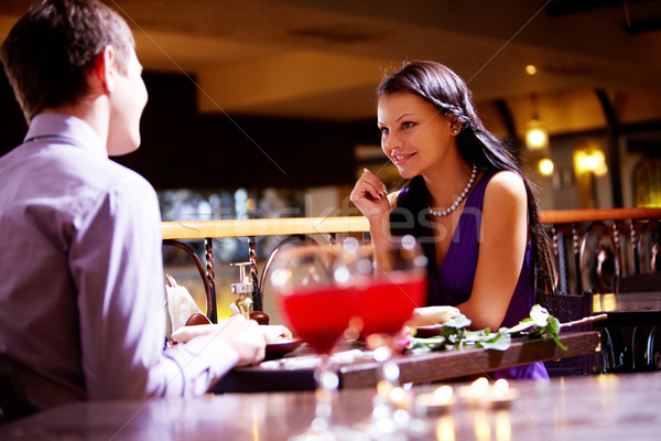 Stock photo: In the restaurant