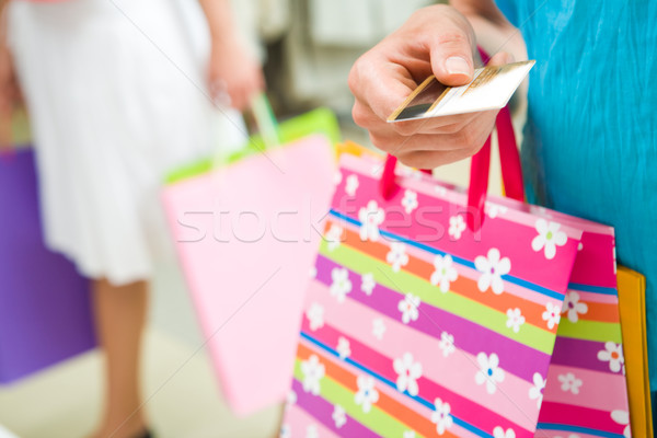 Stock photo: I shall pay by card