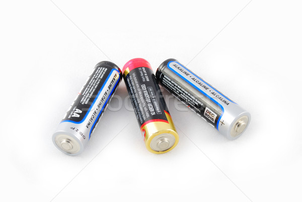 Stock photo: a group of aa batteries