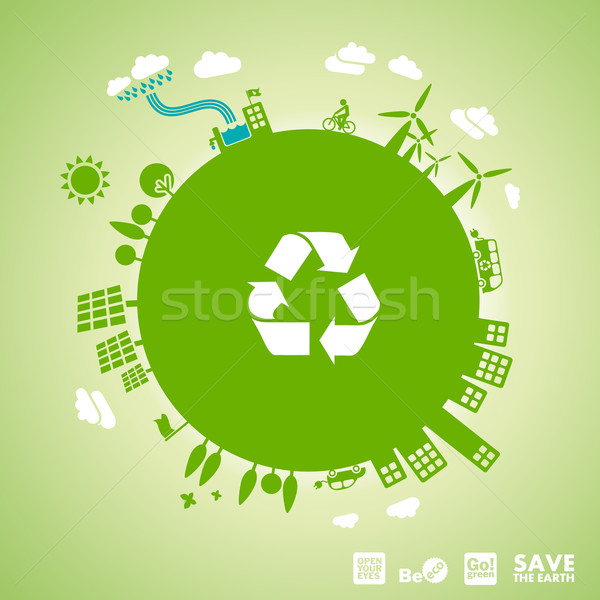 Stock photo: green earth - sustainable development concept