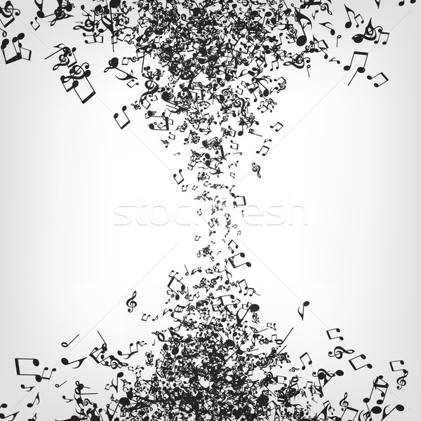 Stock photo: Music Notes Texture