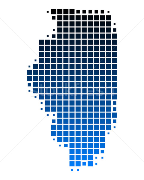 Stock photo: Map of Illinois