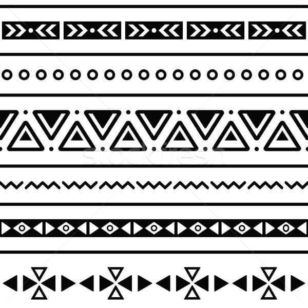 Aztec Border Patterns Stock photo: aztec seamless