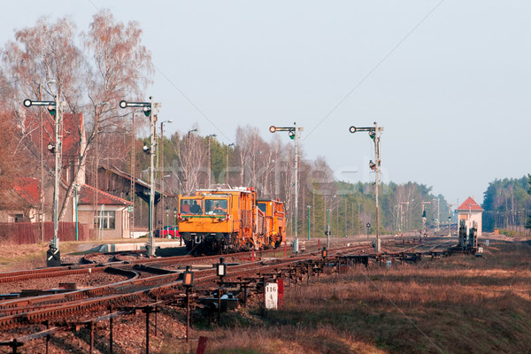 Stock photo: Railawy heavy duty machines
