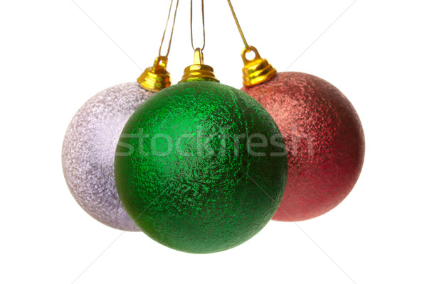 Stock photo: Three Christmas Balls