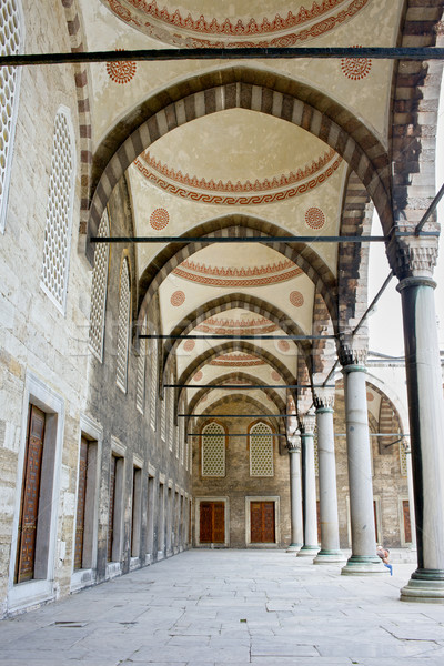 Stock photo: Blue Mosque Arched Corridor