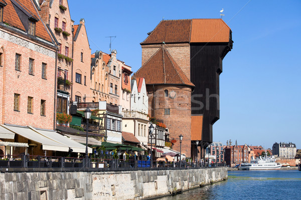 Stock photo: The Crane in Gdansk Old Town