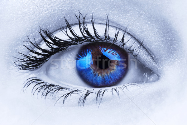 Stock photo: Abstract blue eye