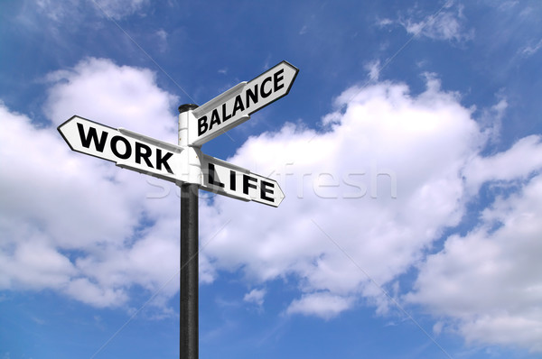 Stock photo: Work Life Balance signpost
