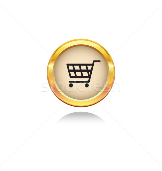 Stock photo / Stock vector illustration : gold button with shopping ...: stockfresh.com/image/1045274/buy-now-symbol