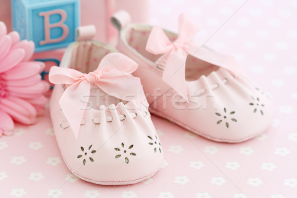 Stock photo: Baby shoes