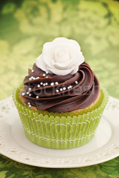 Stock photo: Rose cupcake