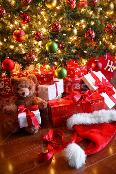 Stock photo: Gifts under the tree for Christmas