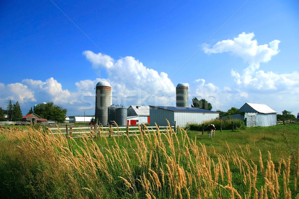 Stock photo: Working farm in rural Quebec, Canada