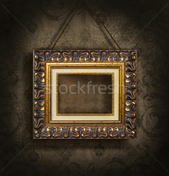 antique wallpaper. frame on antique wallpaper