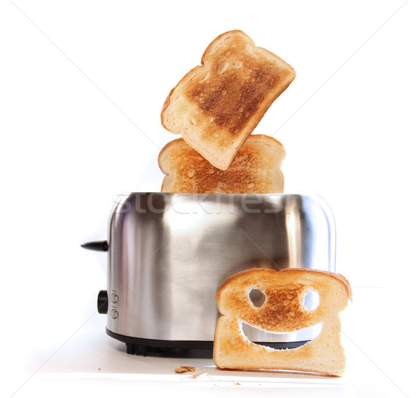 Stock photo: Toaster with slices of toast