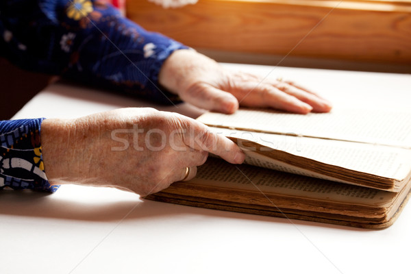 Stock photo: Elderly Reading