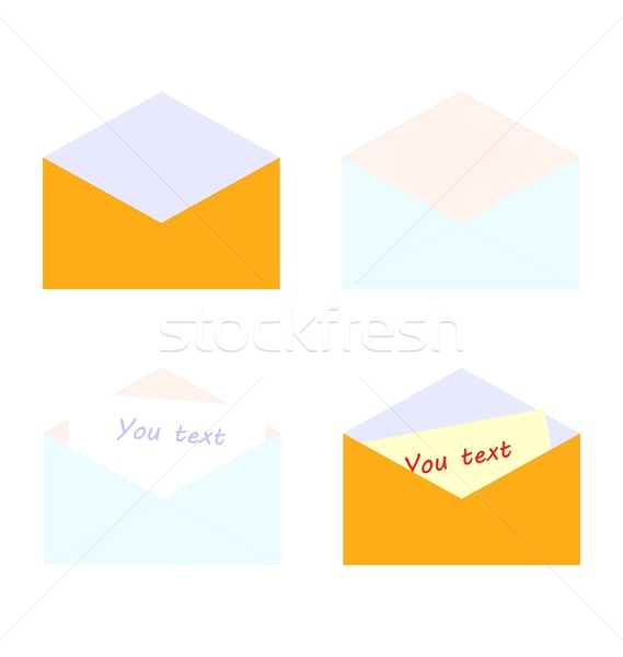 Stock photo: Illustration set of letter with stick