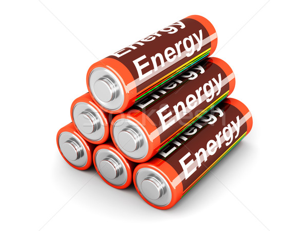 Stock photo: Battery Pyramid