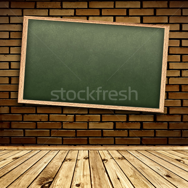 Stock photo: Blackboard in interior